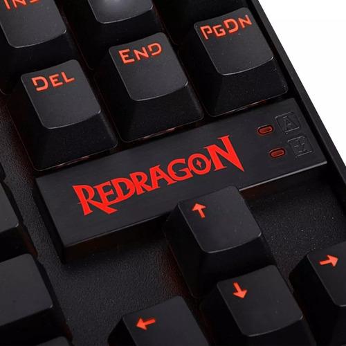 teclado gamer mecanico redragon kumara k552 retro rosario