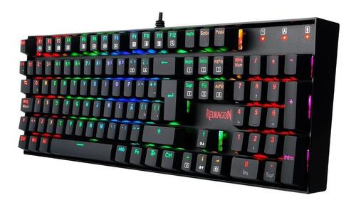 teclado gamer mecanico redragon mitra k551 rgb español pce