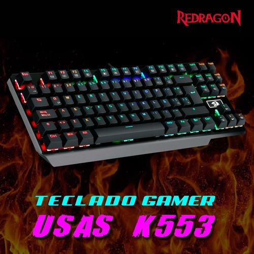teclado gamer mecanico redragon usas k553 iluminado