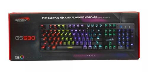 teclado gamer mecanico sentey gs530 led rgb retro outemu red