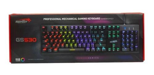 teclado gamer mecanico sentey gs530 rgb retro cherry red htg