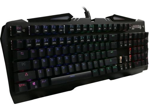 teclado gamer mecânico mesh gear forseti usb led rgb usa