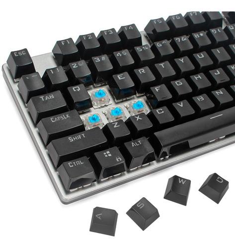 teclado gamer mecânico pc philips spk8404 switch blue usb