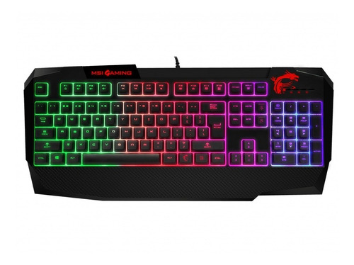 teclado gamer msi vigor gk40 rgb