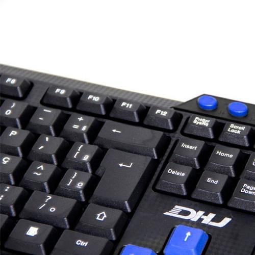teclado gamer multimídia com fio usb dhj promoção wb-536