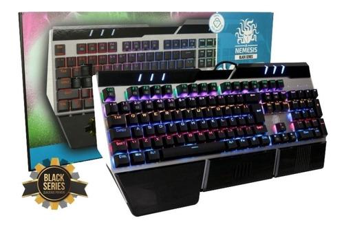 teclado gamer nemesis 5+ 0049 mecânico com fio