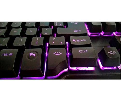 teclado gamer oex force-x tc201 abnt2 semi-mecânico plunger