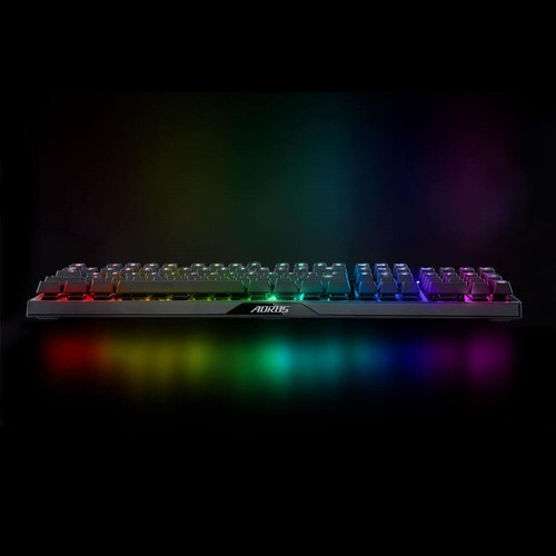 teclado gamer optico gigabyte gk- aorus k9 switch red rgb