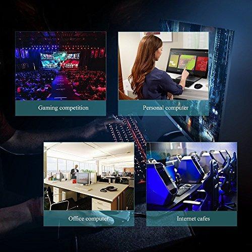 teclado gamer para juego, horsky usb retroiluminado