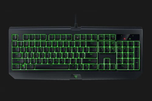 teclado gamer razer blackwidow ultimate preto + brinde