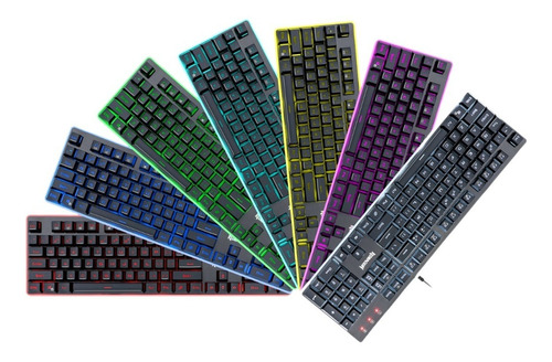 teclado gamer redragon dyaus k509 led rgb anti ghost backup
