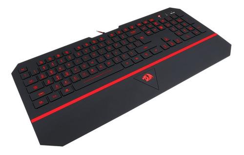 teclado gamer redragon k502 karura 7 colores con apoya muñec