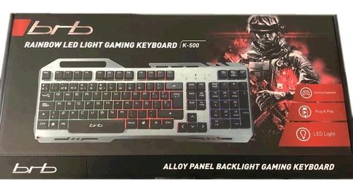 teclado gamer retroiluminado brb k500 pc fornite lol csgo