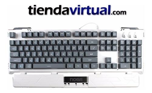teclado gamer retroiluminado noganet argos resiste agua usb