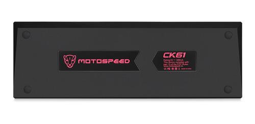 teclado gamer rgb motospeed ck61teclado mecánico