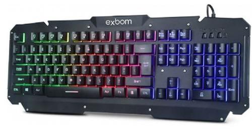 teclado gamer semi mecânico de metal bk-g200 com led preto