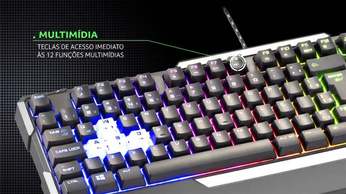 teclado gamer semi mecânico warrior - tc208 frete grátis