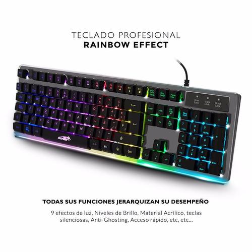 teclado gamer sentey acrylix gs-5720 retroiluminado led