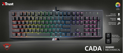 teclado gamer trust cada mecânico 21808