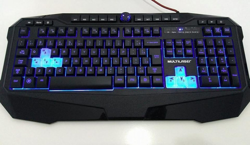 teclado gamer warrior - iluminado / macro / anti-ghosting