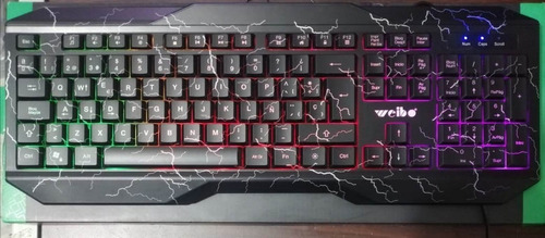 teclado gamer wb-570 con iluminación rgb trae ñ