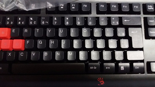 teclado gaming luminado bloody q100u a4tech 1 ano garantia