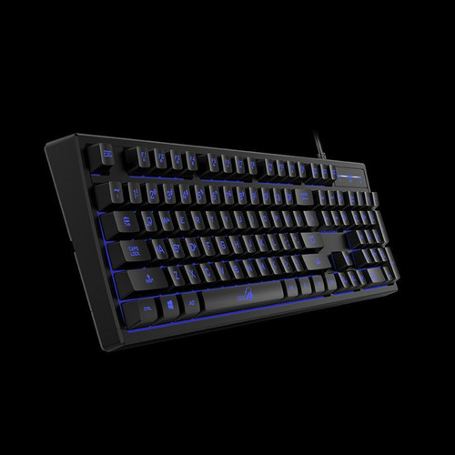 teclado gaming tipo mecánico de membrana, genius scorpion k6