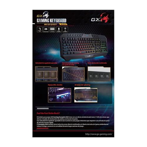 teclado genius gx scorpion k220