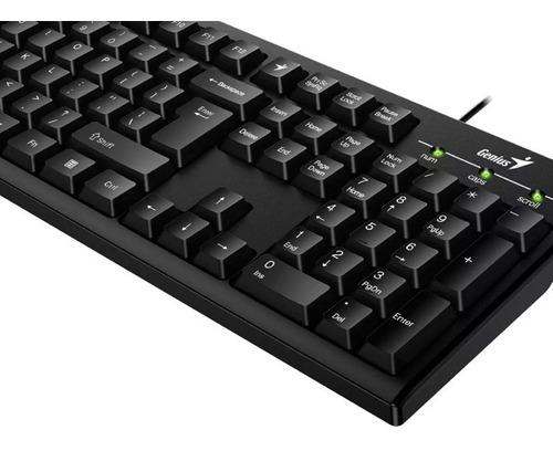 teclado genius kb-100 smart usb black