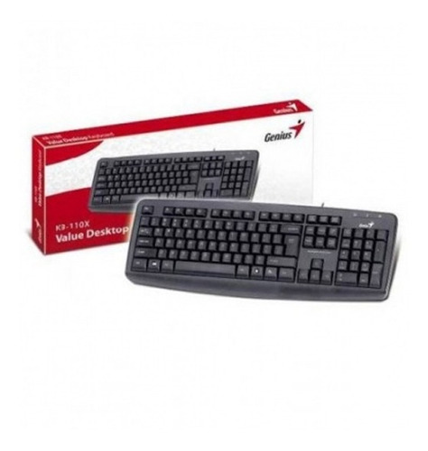 teclado genius kb-110x ps2 negro