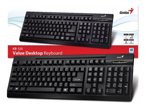teclado genius kb125 usb negro