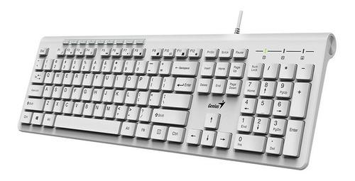 teclado genius slimstar 230 blanco en español alambrico usb