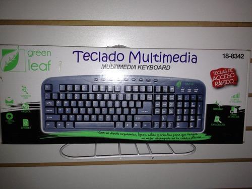 teclado green leaf negro
