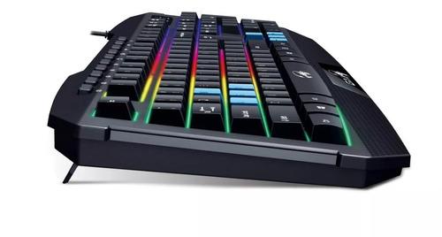 teclado gx gaming scorpion k215 retroiluminado fps nuevo led