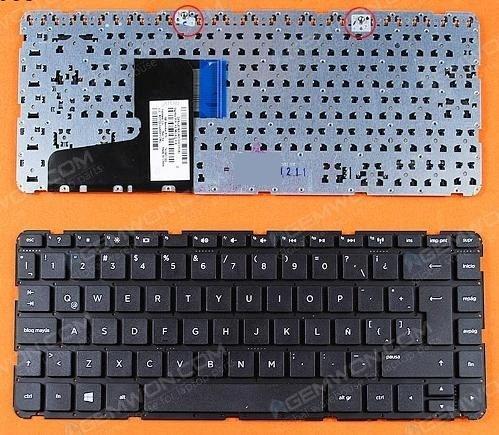 teclado hp 14-d000 14-e000 14-d 14-e negro español sin malla