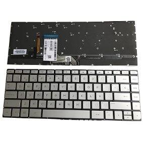 teclado hp 15-ap plata español lampara sin marco 841266-001