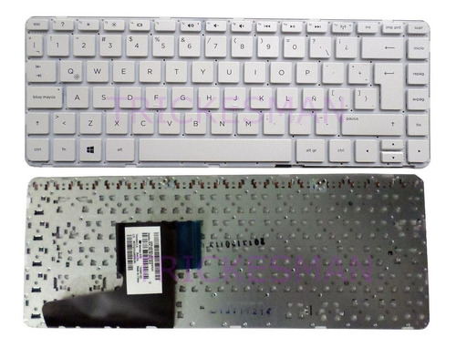 teclado hp 245 g3 240 g2  14-g 14g 14-r 14r 14-d 14-w blanco