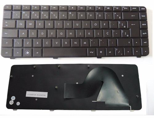 teclado hp compaq compatível v112246ar1-br, 590121-001 novo