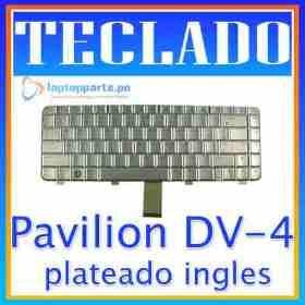 teclado hp dv4 dv4-1000 dv4-1100 dv4-1200 plateado ingles