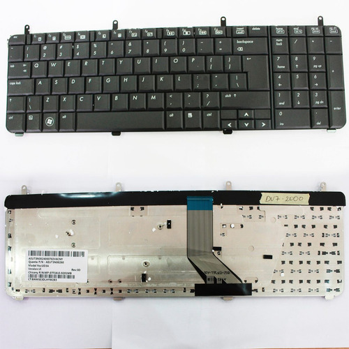 teclado hp dv7-2003tu black