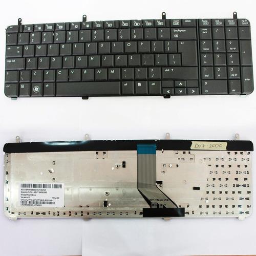 teclado hp pavilion dv7-2000 series black