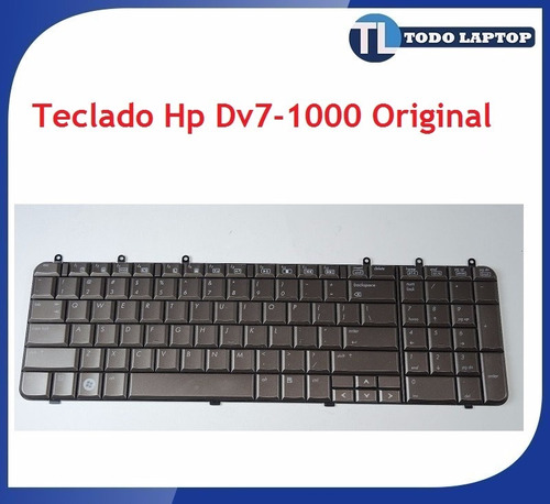 teclado hp pavilion dv7 serie 1000 color bronce