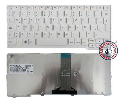 teclado ibm lenovo s110 s206 blanco en español