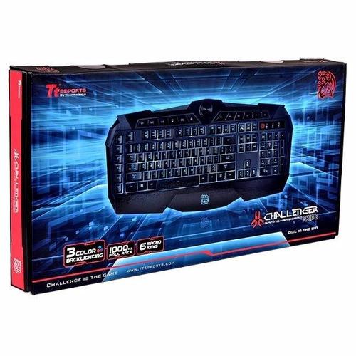 teclado iluminado thermaltake esports challenger prime abnt2