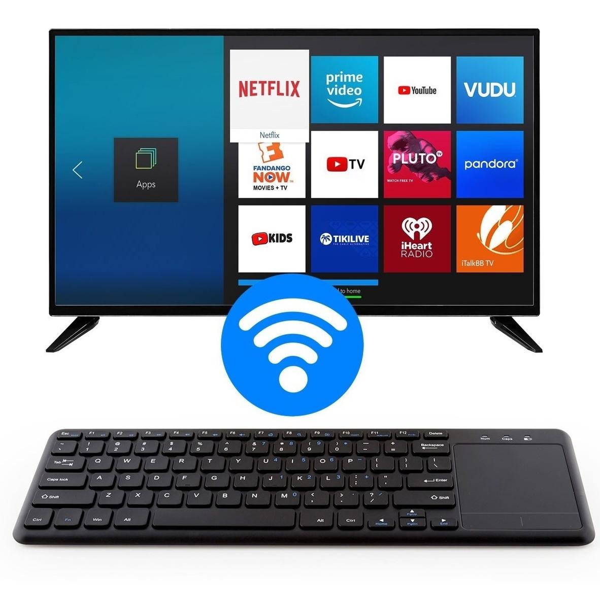 Teclado Inalambrico 2 4 Ghz Usb Smart Tv Pc Laptop Multimedi