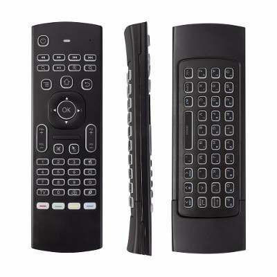 teclado inalambrico air mouse smart tv recargable iluminado