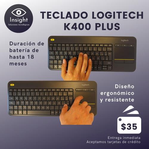 teclado inalámbrico con touchpad logitech k400 plus