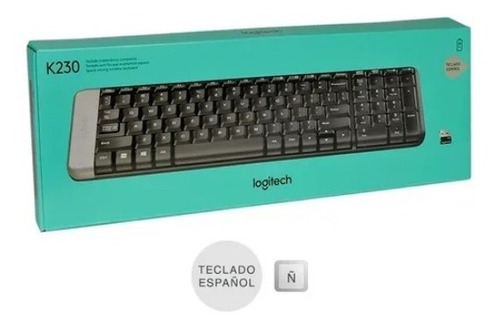teclado inalambrico logitech k230 wireless mini compacto usb