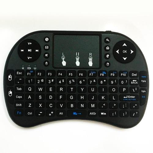 teclado inalámbrico recargable para smart tv usb touch pad