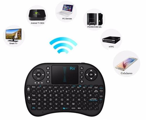 teclado inalámbrico smart tv pc celulares + adaptador otg